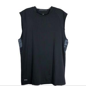 Starter black grey men's athletic sports tank top